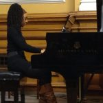 Photo from Annette's piano recital at Goldsmiths College 2013