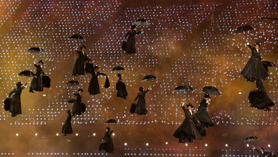 Mary Poppins in London 2012 Opening Ceremony